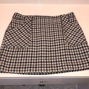 J.Crew Houndstooth Mini Skirt